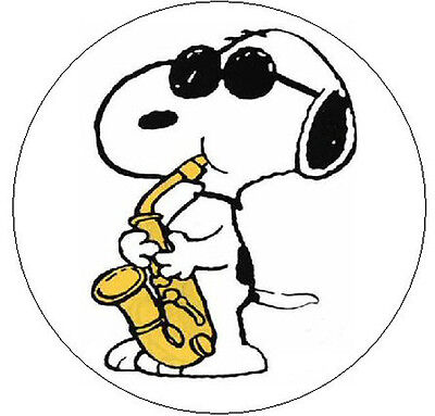 "~SNOOPY PLAYING SAXAPHONE~  1"" Sticker / Seal Labels!"