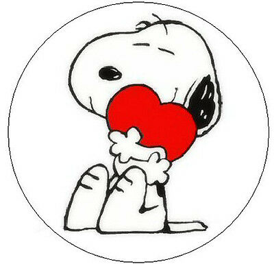 "~SNOOPY WITH HEART~  1"" Sticker / Seal Labels!"