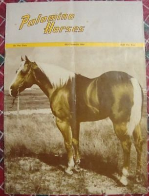 September 1960 Magazine PALOMINO HORSES - Mineral Wells