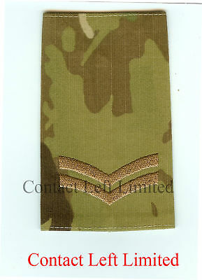 Pair of Official Crye Multicam MTP Corporal RANK SLIDES