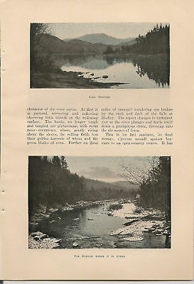 1905 Course of the Hudson River vintage article