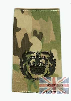Black on Multicam MTP WO2 QMSI RQMS RANK SLIDE ( Army