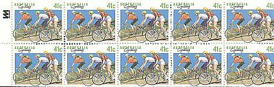 Australia  Cycling 10 Stamp Booklet Mnh