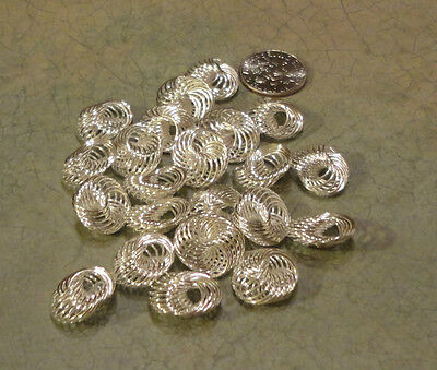 2738 Silver Plated Seashell Beads 14 Mm X 13 Mm  15/pk