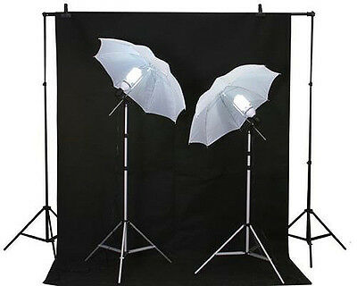 Photography Lighting Kit  Muslin Background Stands Case