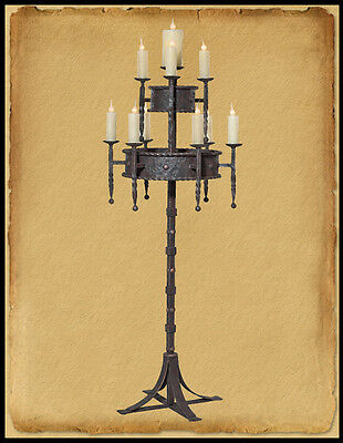 Fl400 : Wrought Iron Gothic Style Floor Lamp