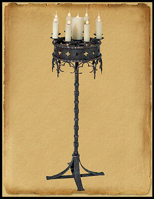 Fl410 : Hand Crafted Ion Gothic Style Floor Lamp