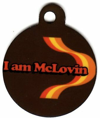 Engraved Pet ID Tag Round I Am Mclovin Funny Tag