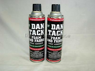 2- 10.2oz Cans Foam&Fabric Spray Glue/Adhesive DAN TACK