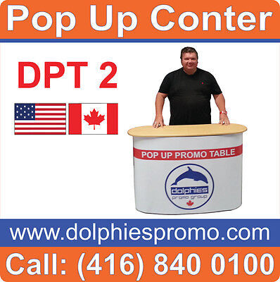 Trade Show Display Counter Portable Pop Up Tables Reception Kiosk (Hardware)