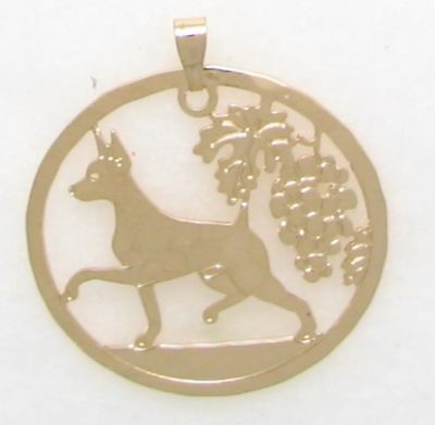 Miniature Pinscher Jewelry Gold Pendant by Touchstone