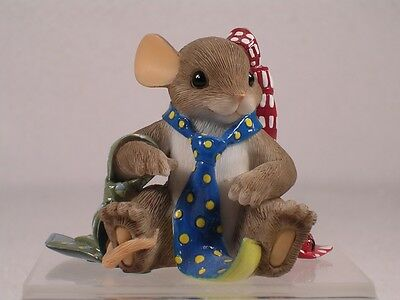 "Charming Tails #89/134 'Special ""Tie"" Dings For A Special Dad' Figurine  RET NIB"