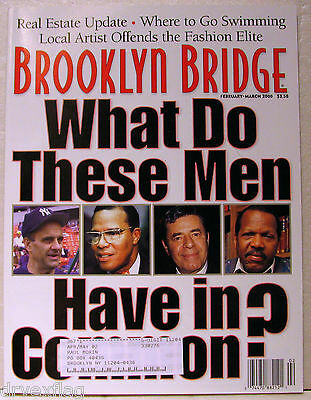 BROOKLYN BRIDGE MAGAZINE Feb-Mar 2000 Brooklyn-Battery Tunnel VERY RARE