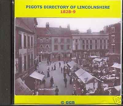 Genealogy Directory Of Lincolnshire 1828-9 Cd Rom