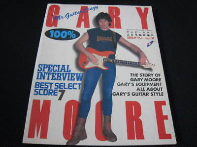 100% Gary Moore Japan only Book in 1983 Thin Lizzy Cozy Powell BBM