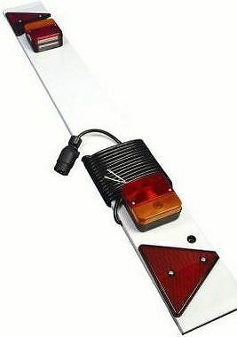4ft TRAILER LIGHTING BOARD with reflectors 7.5mtr cable