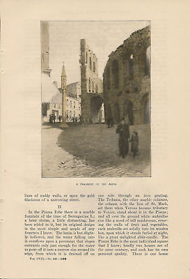 1904 Reminiscence of Verona Italy vintage article