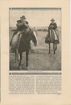 1911 Pacific NW Cattle Ranching P Ranch vintage article