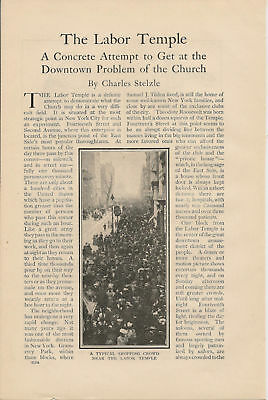 1911 New York Labor Temple vintage article