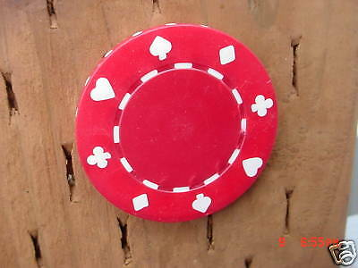 500  Red  11.5  Gram  Clay  Suited  Poker  Chips