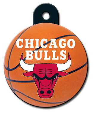 Officially Licensed NBA Chicago Bulls Round Pet Tag