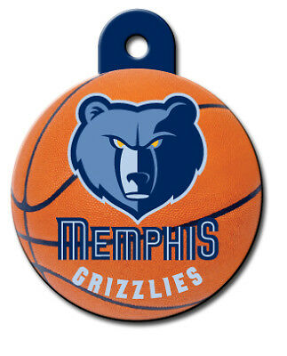 Officially Licensed NBA Memphis Grizzlies Round Pet Tag