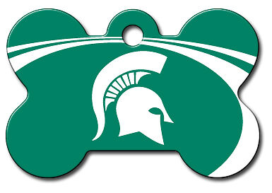 Officially Licensed NCAA  Michigan State Spartan Tag