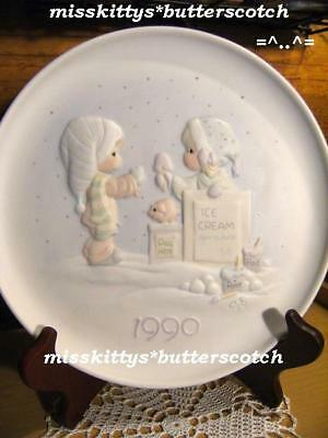 Precious Moments~PLATE~DATED 1990~523801~Wishing U~tbh