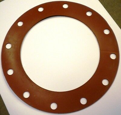 """Full Face Type Flange Gaskets Od 19"""" Red Rubber"""