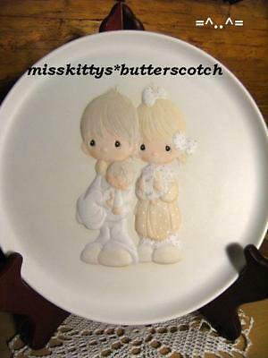 Precious Moments~PLATE~E7172~Couple Holding BABY~UM