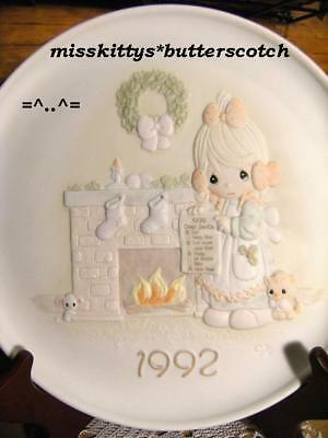 Precious Moments~PLATE~DATED 1992~527742~Mouse Cat~COA