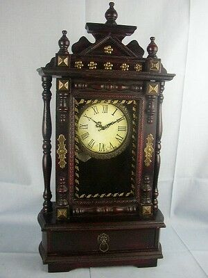 62cm Tall Wooden Clock with draw Storage, NEW, FE002222