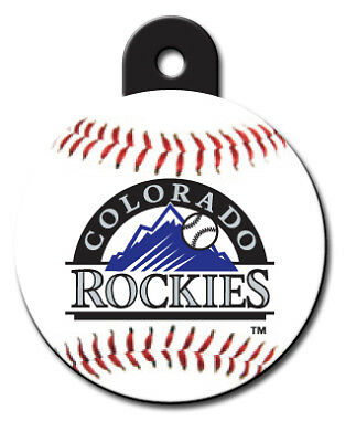 MLB Engraved Colorado Rockies Pet ID Tag fast ssh