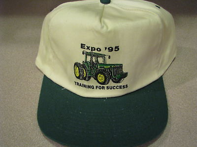 John Deere EXPO '95 TRAINING FOR SUCCESS Advertising Promotional Hat NEW