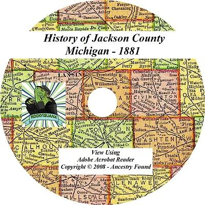 1881 History & Genealogy of Jackson County Michigan MI