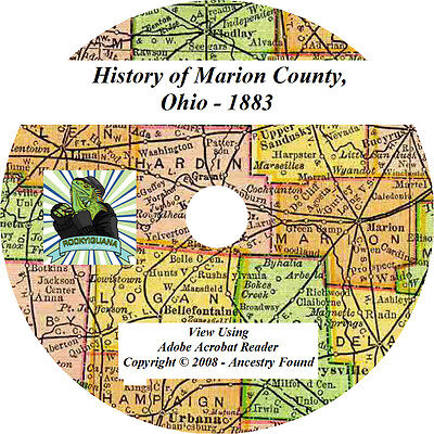 1883 History & Genealogy of MARION County Ohio OH