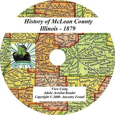 1879 History & Genealogy of McLEAN County ILLINOIS IL