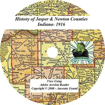 1916 History of JASPER and NEWTON County Indiana IN