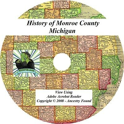 1890 History & Genealogy of Monroe County Michigan MI