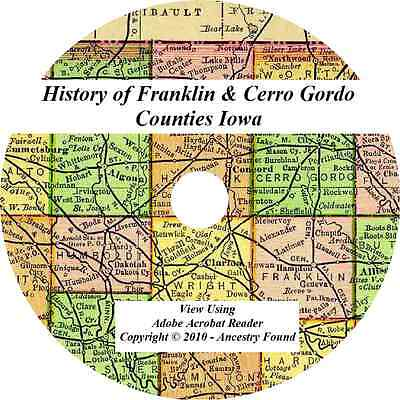 1883 History Genealogy FRANKLIN & CERRO GORDO COUNTY IOWA Hampton Mason City IA