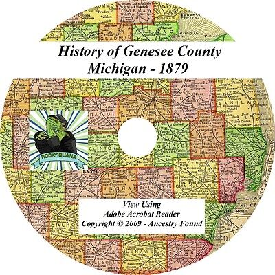 1879 History & Genealogy of GENESEE County Michigan MI