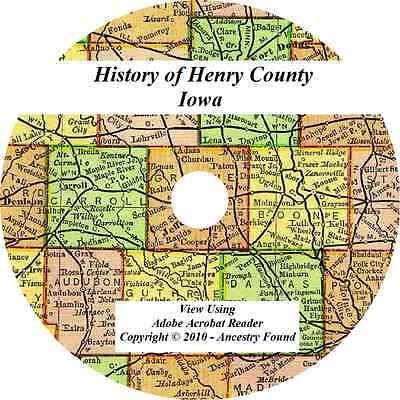 1888 History & Genealogy of HENRY COUNTY IOWA Mount Pleasant IA Families