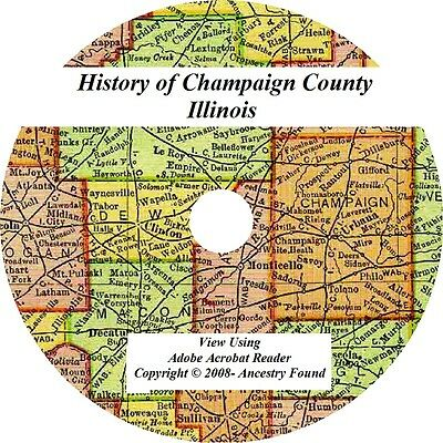 4 in 1 History & Genealogy Champaign County Illinois IL