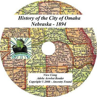 1894 History & Genealogy of the City Omaha Nebraska NE