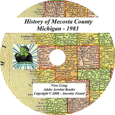 1883 History & Genealogy of MECOSTA County Michigan MI