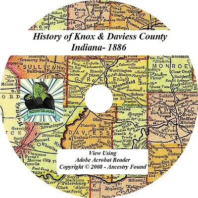 1886 History of KNOX and DAVIESS County Indiana IN