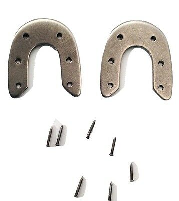 2 pair of EXTRA LARGE metal Army Rim HORSE SHOE BOOT HEEL PLATES Protectors