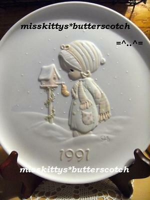 Precious Moments~PLATE~523860~DATED 1991~ Bird House