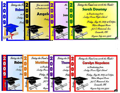 20 Graduation Announcement Invitations - All Colors
