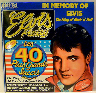 Canada Import  2X K-TEL In Memory of Elvis The King